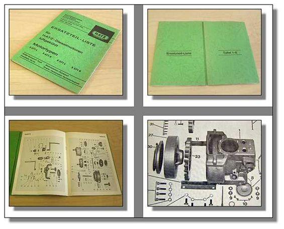Hatz E671 E571 L / R Dieselmotor Ersatzteilliste 1969