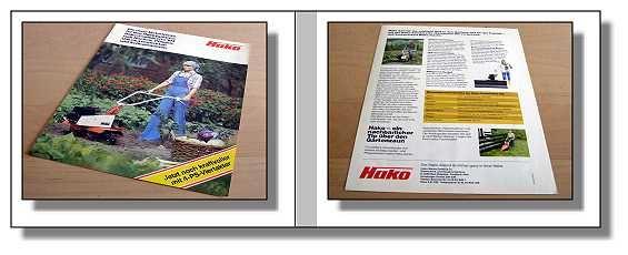 hako combinette 104 motorhacke prospekt 1981 ebay. Black Bedroom Furniture Sets. Home Design Ideas